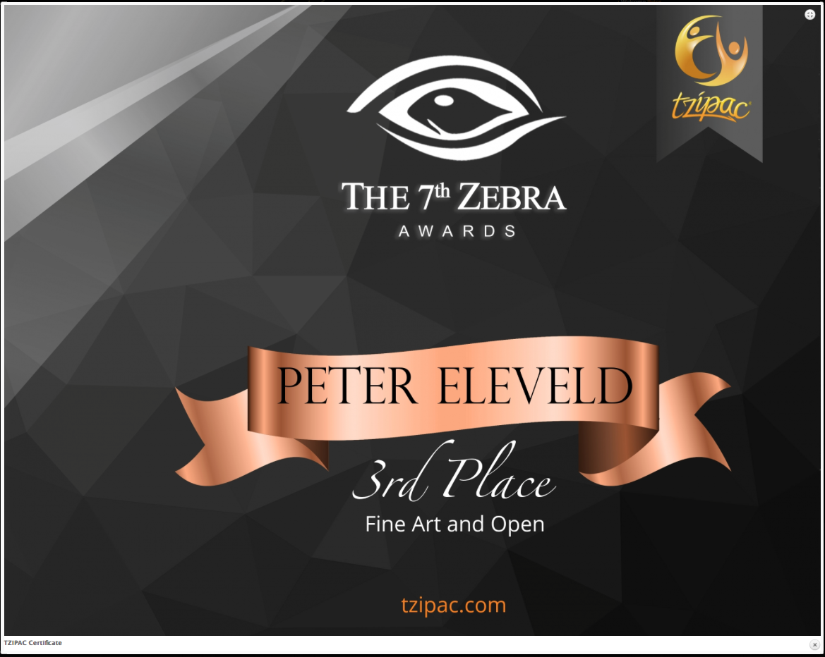 Third place at the Zebra Black and White Awards 2019